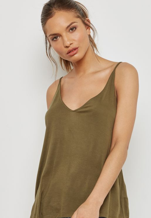 Plunge Neck Cami Top
