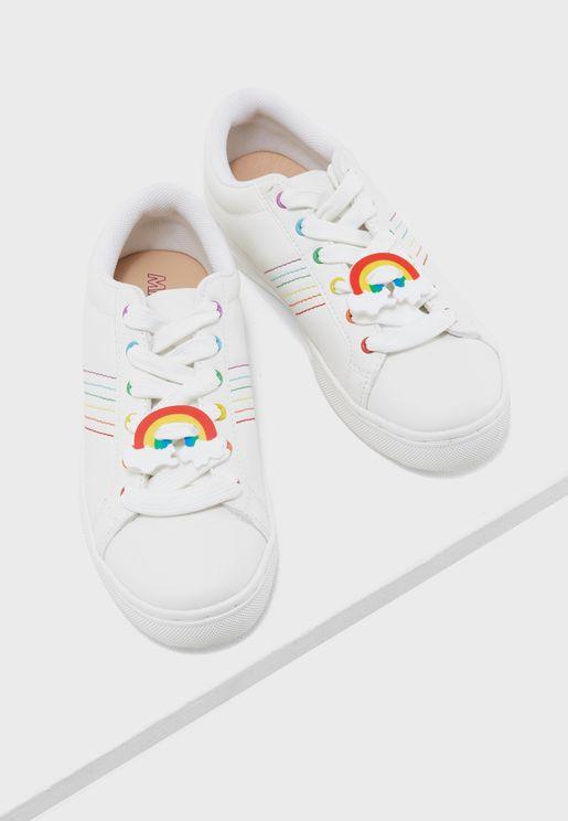 Rainbow shape Shoelace Charms