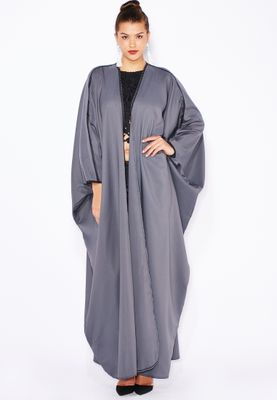 Haya's Closet Detailed Piping Abaya