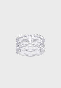 Large Gray Band Ring