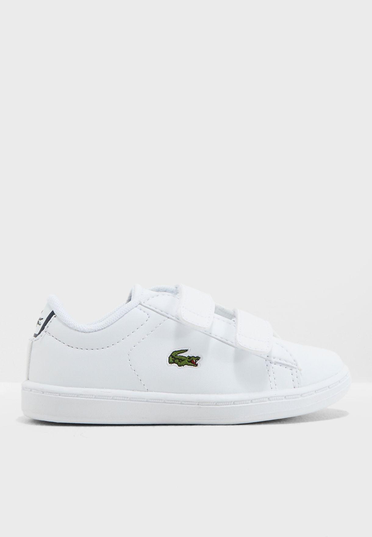 b339ea83fab5 Shop Lacoste white Infant Carnaby Evo Bl 1 Sneaker 33SPI1003-042 for ...
