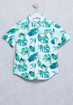 Youth Leaf Print Shirt