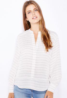 MANGO Striped Shirt