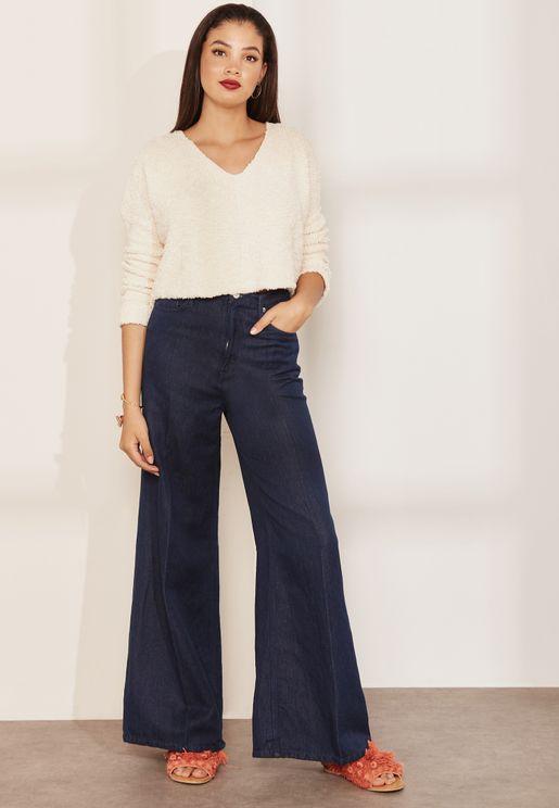 Super High Rise Wide Leg Jeans