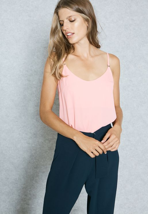 Deep back Camisole Top
