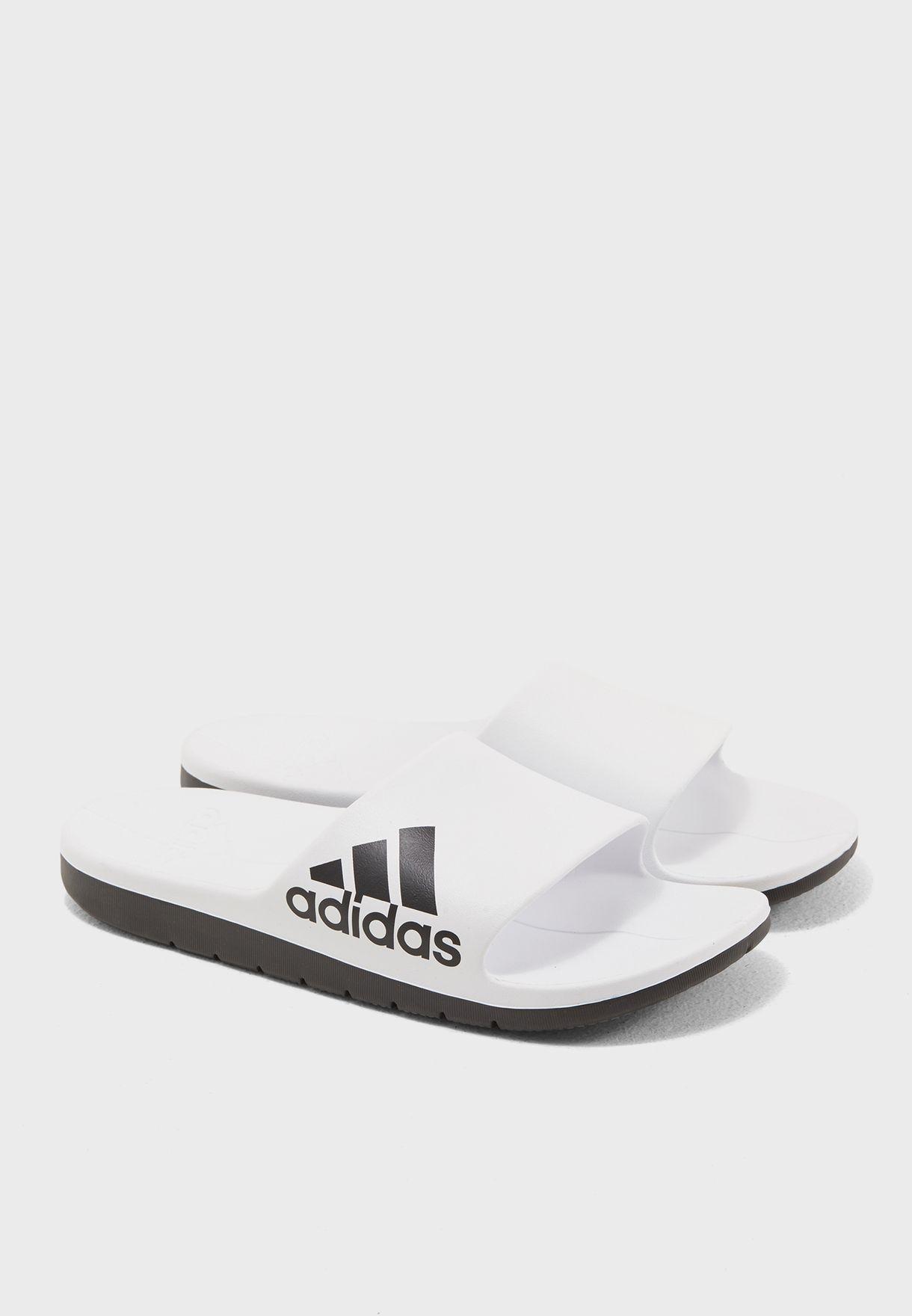 6d1913102e7e Shop adidas white Aqualette CF CM7927 for Men in UAE - AD476SH12THR