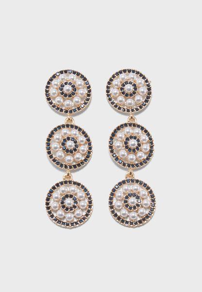 Tiered Pearl Earrings