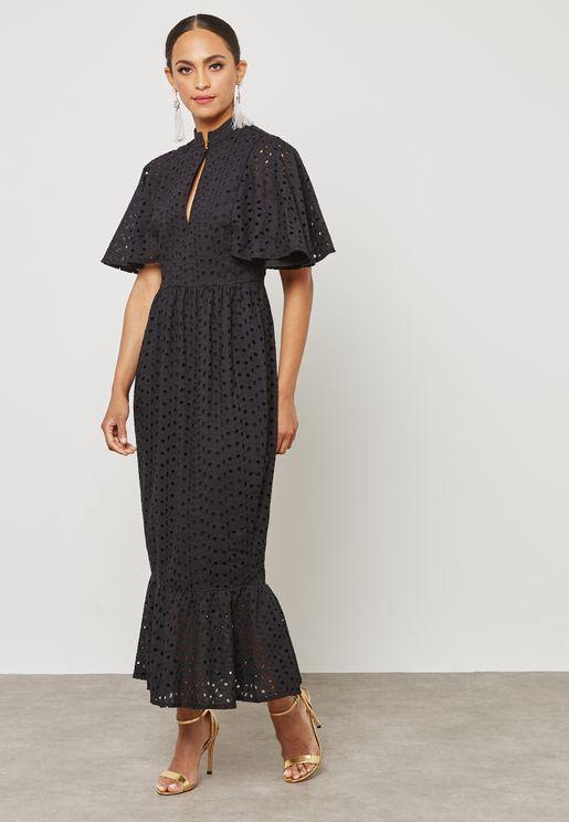 Pephem Schiffli Dress