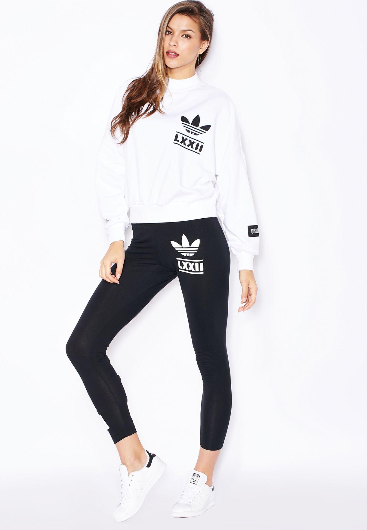 Shop adidas Originals white Berlin Trefoil Sweater AB2659 for Women ... 5bd868cf27