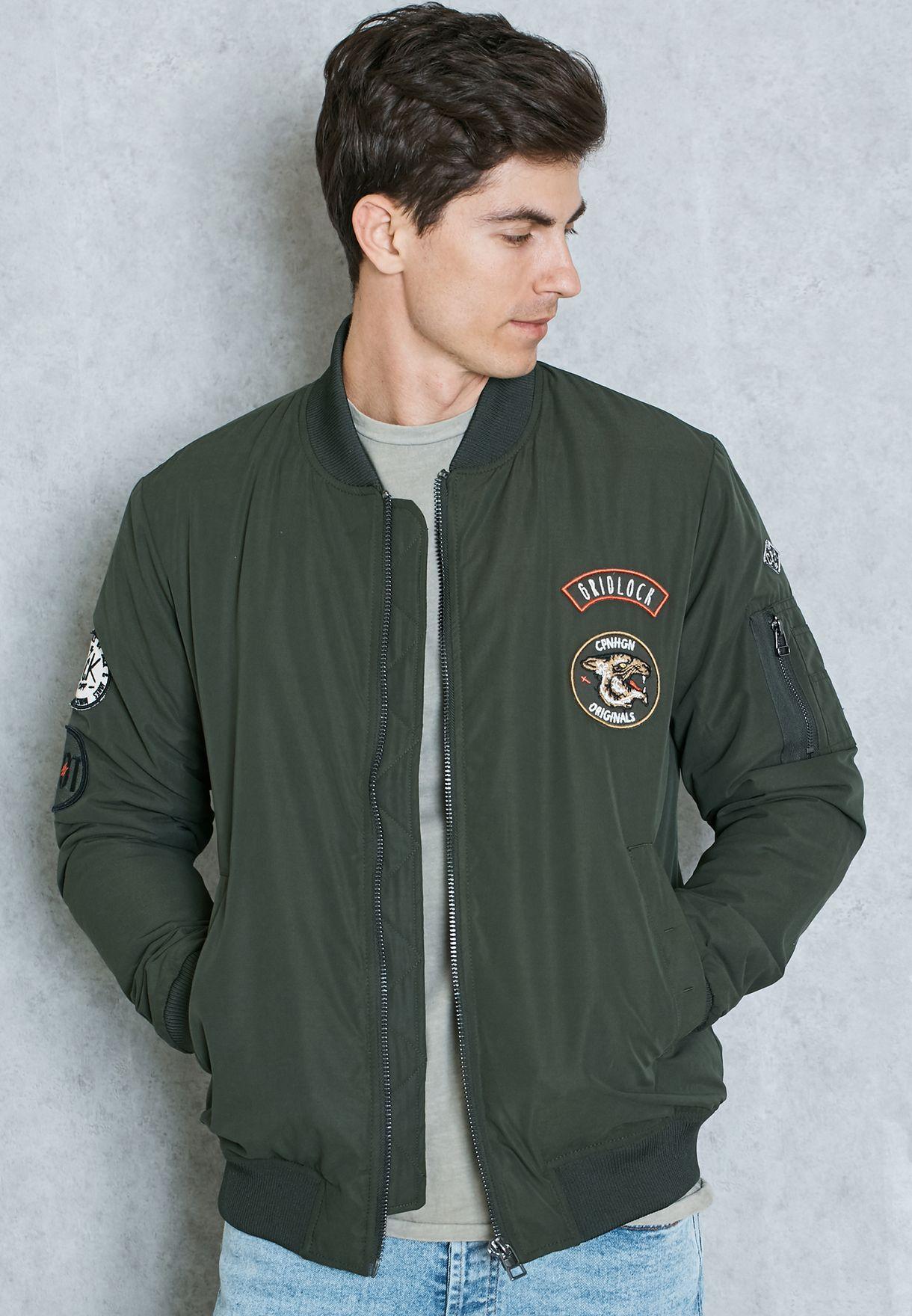 bd8cab14 Shop Jack Jones green Hut Bomber Jacket for Men in Oman - JA336AT02HRL