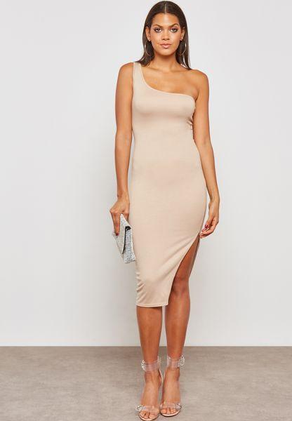 One Shoulder Ponte Dress