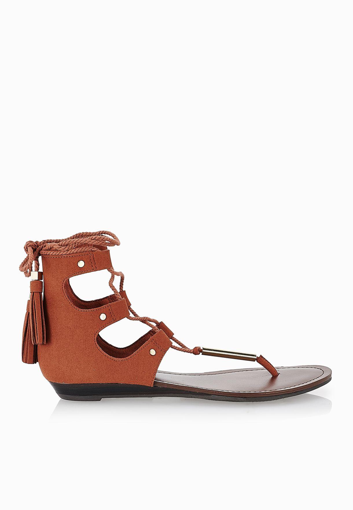369a944130cc Shop Aldo browns Jakki Gladiator Back Zip Sandals for Women in Saudi -  AL729SH02CZL