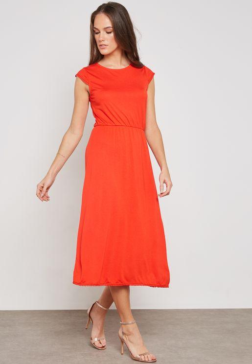 Lace Trim Detail Dress