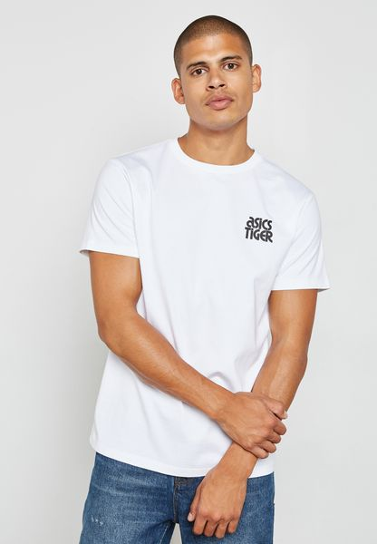 Shop Asics white Small Logo T-Shirt A16069-0001 for Men in UAE ...