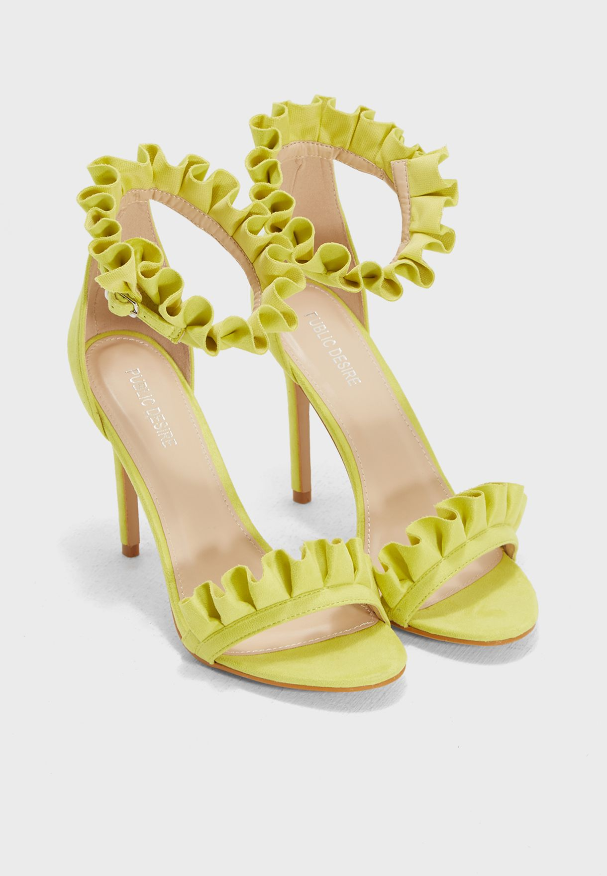 Lucid Frill Strap Barely There Heel