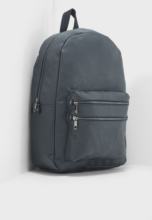 Double Zip Pu Backpack