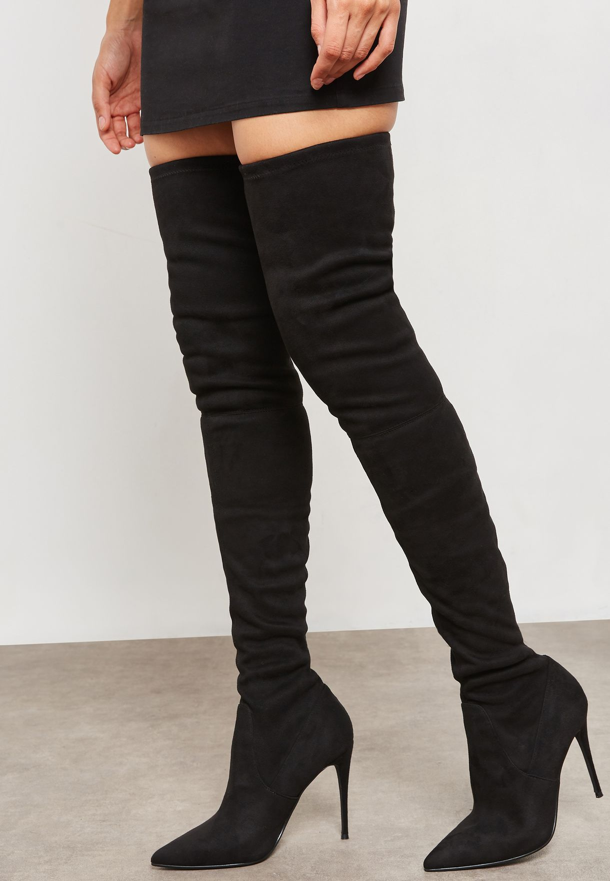 4e99c500a07 Shop Steve Madden black Dominique Knee Boot DOMINIQUE for Women in ...
