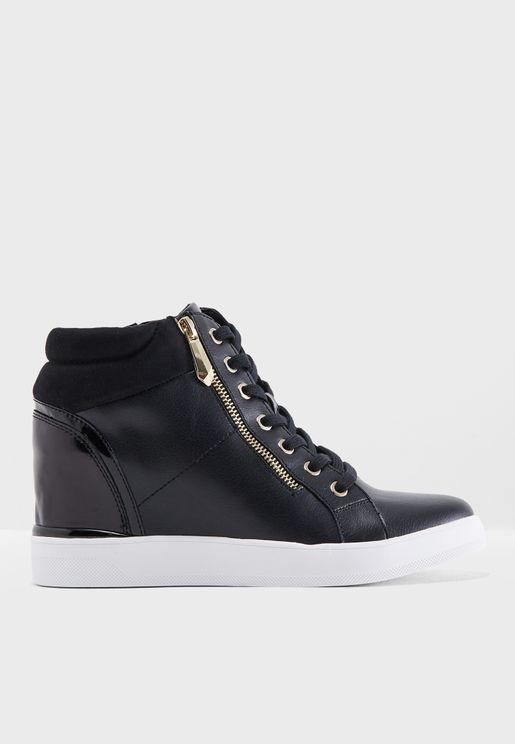 Mid Heel Wedge Sneaker