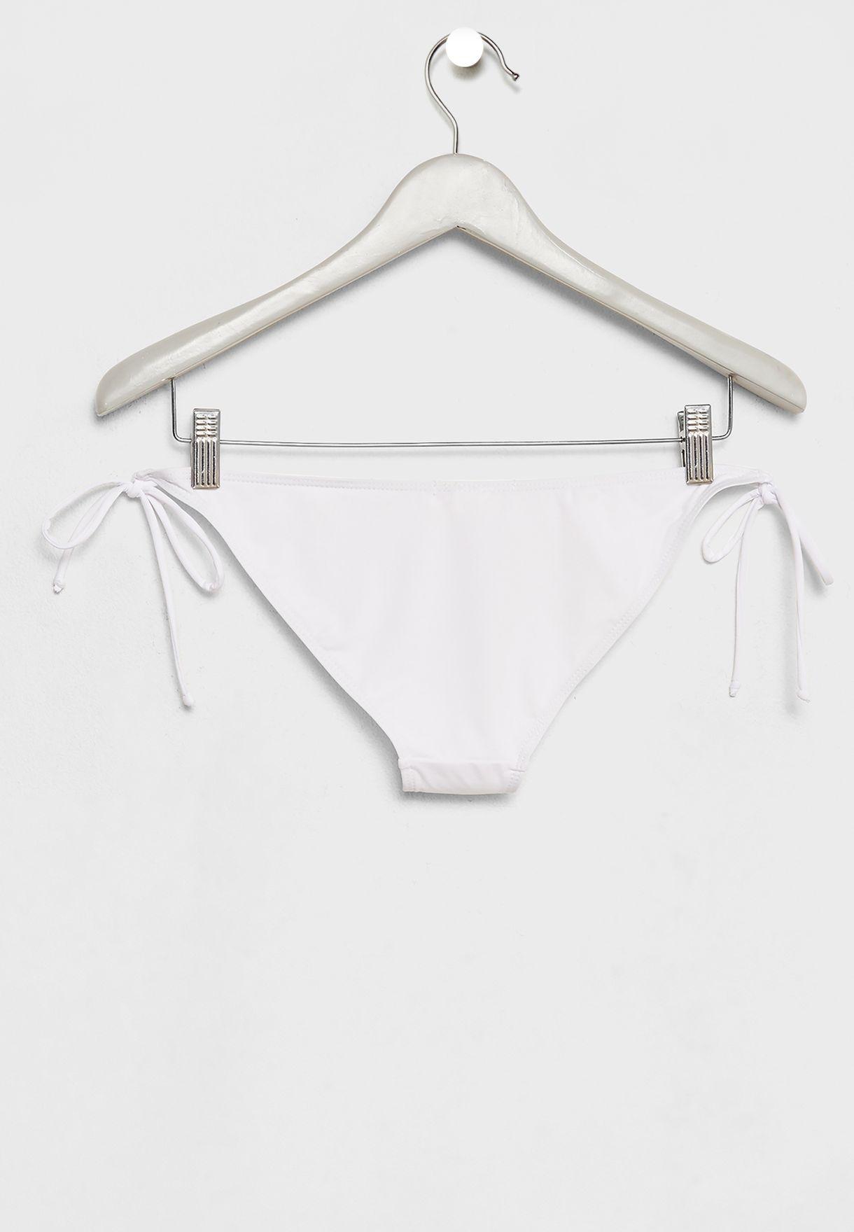 Shop Missguided white Side Tie Bikini Bottoms L3224181 for Women ... 0cc377bca