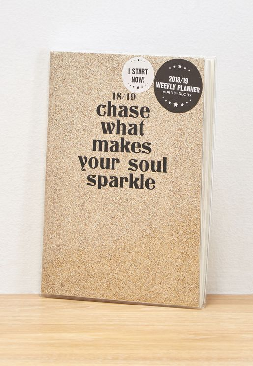A5 2018-19 Chase What Makes You Sparkle Pvc Diary