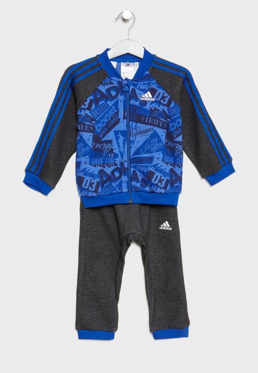Infant 3 Stripe AOP Set