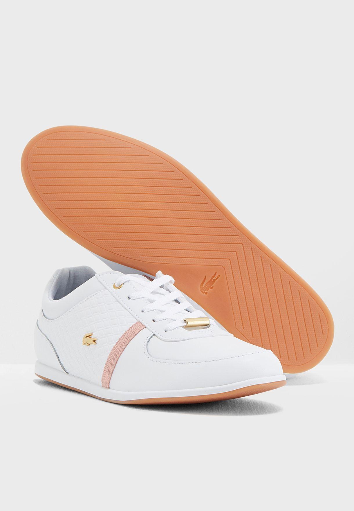 7d671c14d Shop Lacoste white Rey Sport 318 1 Caw Sneaker 736CAW0034 for Women ...
