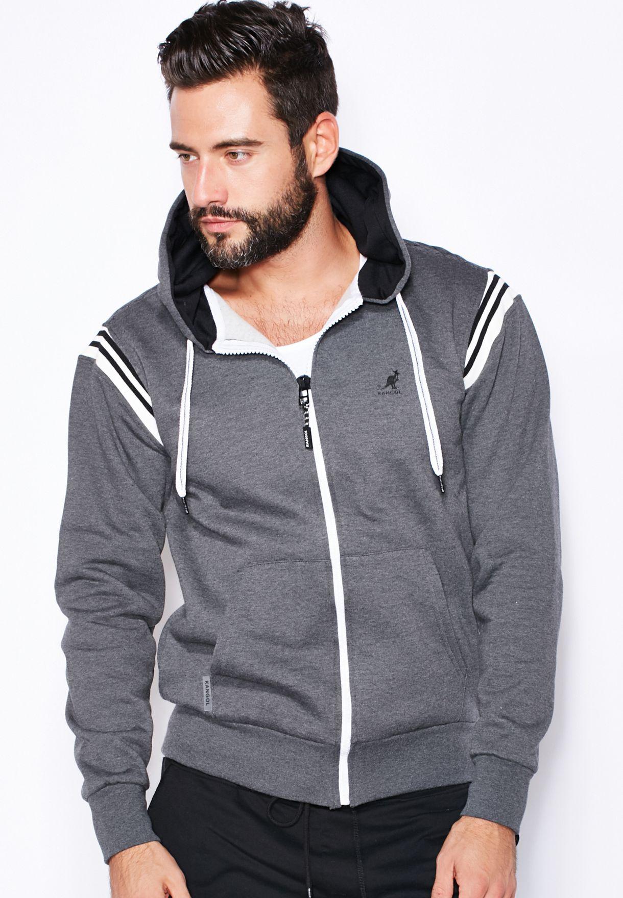 df7c11d5 Shop Kangol grey Sawyer Zip Through Hoodie for Men in UAE - KA758AT02OAB
