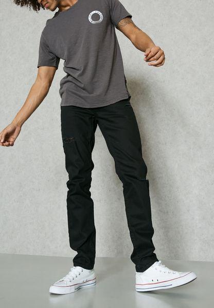 بنطال جينز طويل