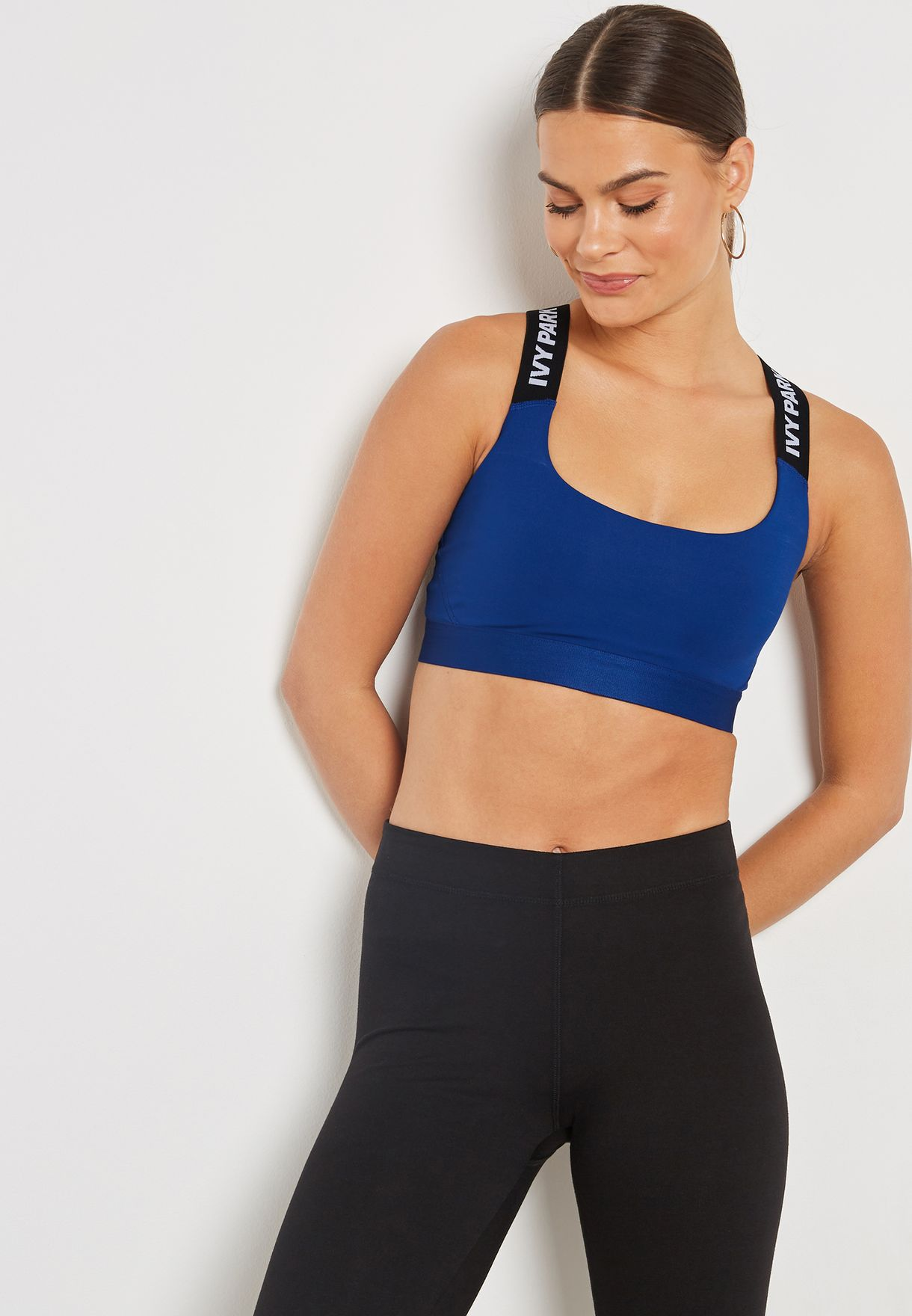 55ac4450b2188 Shop Ivy Park blue Logo Tape Bra 29PPU401ABLE for Women in Bahrain -  IV938AT02CMJ