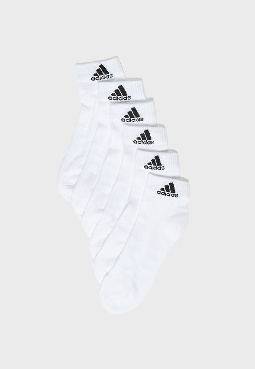 6 Pack 3 Stripe Ankle Socks