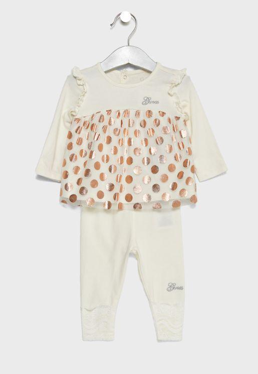 Infant Spot Print Top + Leggings Set
