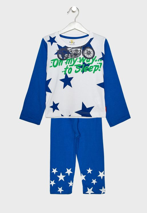 Kids Star Print Pyjama Set