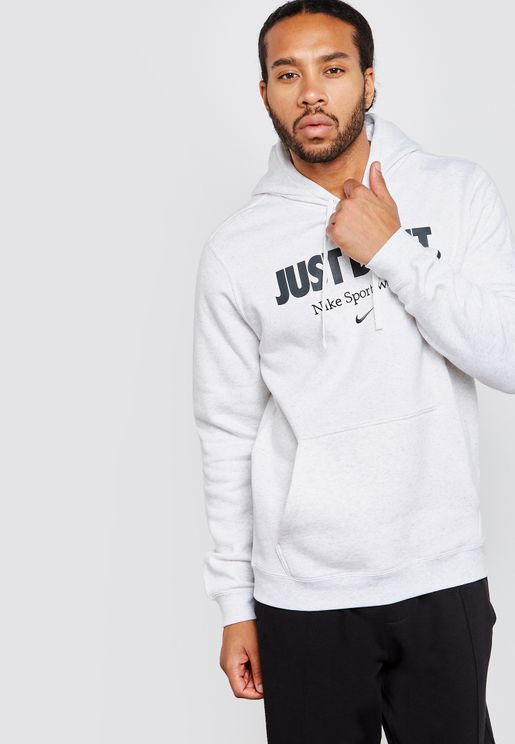Embroidered Just Do It Hoodie