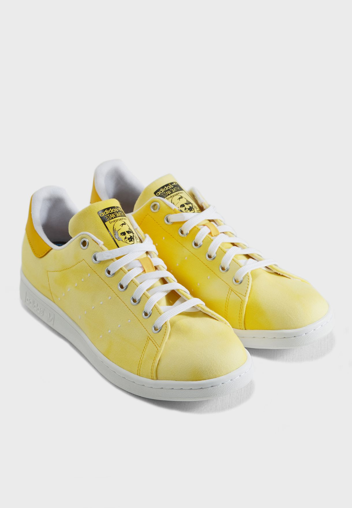 85710dc0efe Shop adidas Originals yellow Pharrell Williams Hu Holi Stan Smith ...