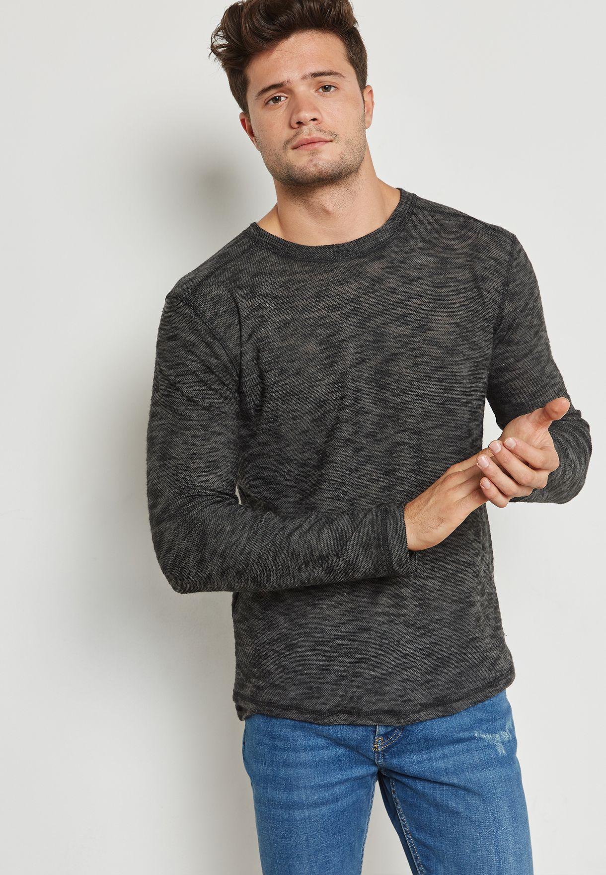 2237ff28e0 Shop Brave Soul grey Mata Sweater MLT-15MATA for Men in Oman ...