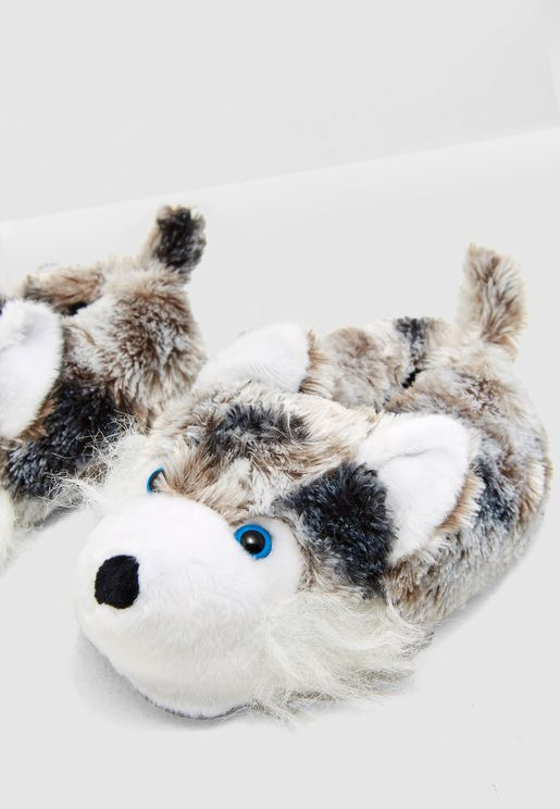 Husky Bedroom Slipper