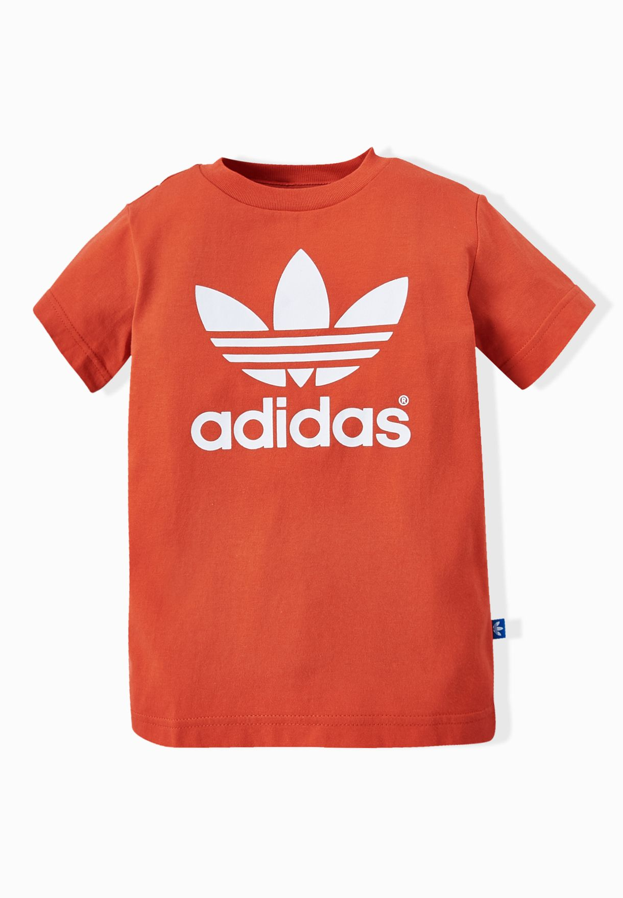 Shop adidas Originals red Youth Trefoil T-Shirt AO0061 for Kids in ... 7126d1be14