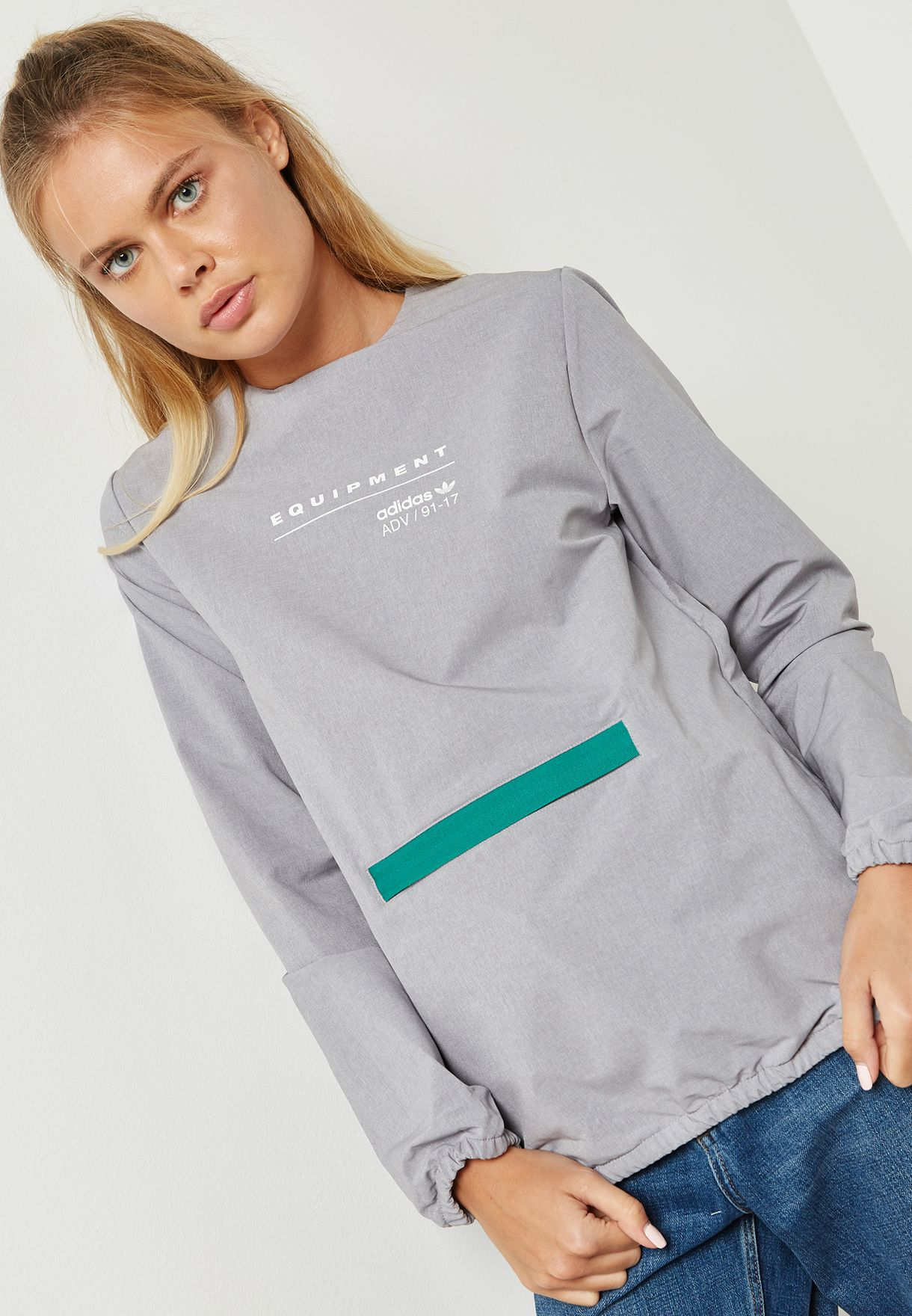 Shop adidas Originals grey EQT Zip Detail Sweatshirt BR5165 for Women in  Kuwait - AD478AT02JLL 4bd037c3b