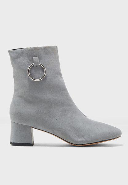 Aruba Metal Ring Ankle Boot