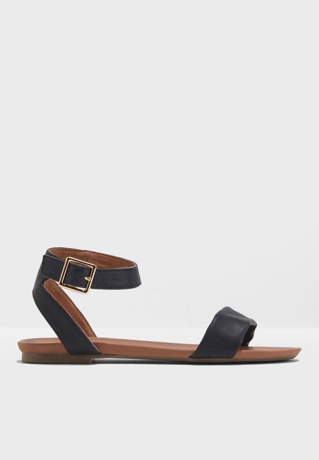 82f7247d204 Shop Dorothy Perkins black WIde Fit Comfort Fran Sandals 35315710 ...