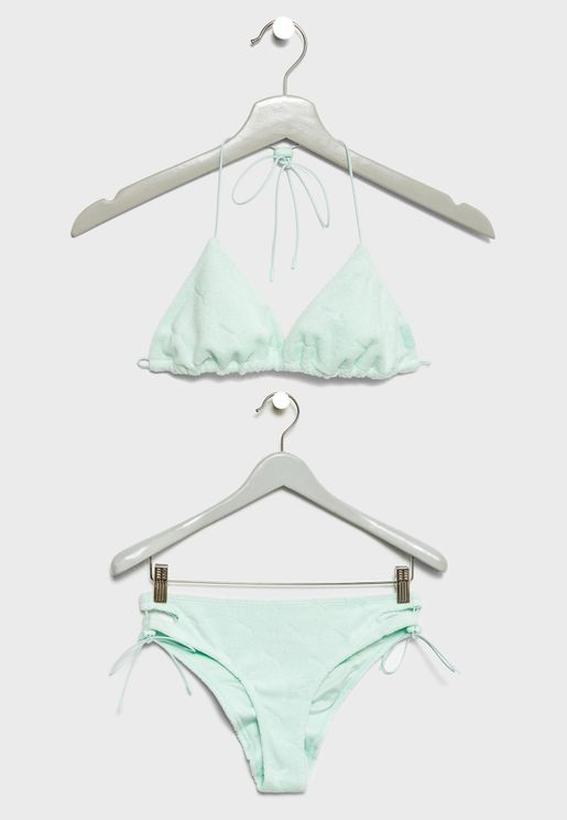 Terrycloth Triangle Bikini