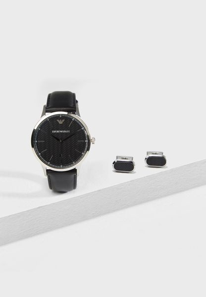 Classic Watch And Cufflinks Set