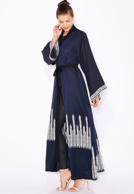 Haya's Closet Detailed Embroidered Abaya