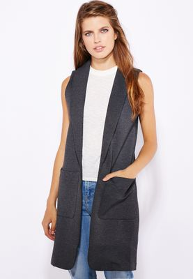 Topshop Pocket Detail Sleeveless Jacket
