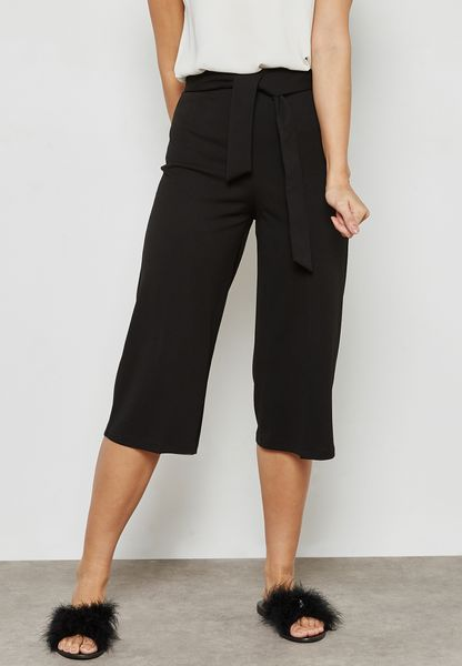 Wide Leg Belted Culottes