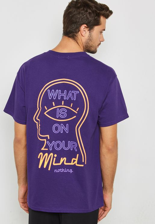 On Your Mind Crew Neck  T-Shirt