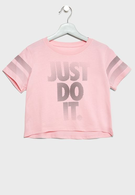 Youth Just Do It Cropped T-Shirt