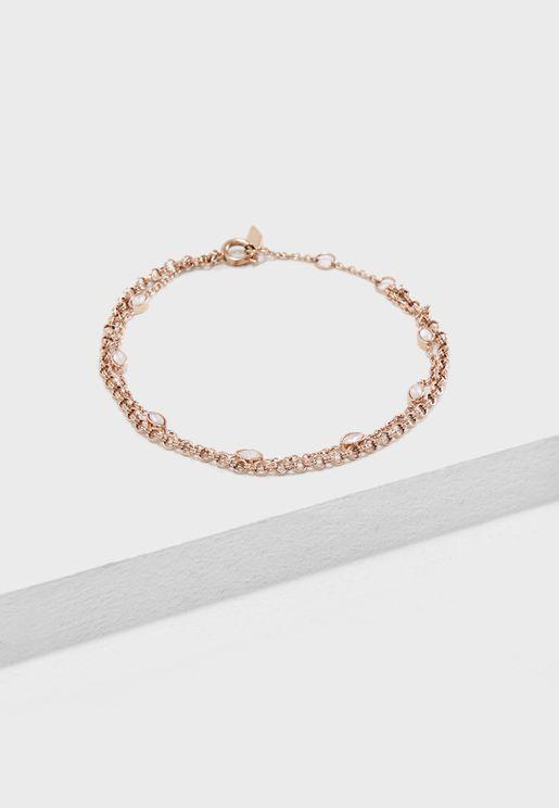 Navette Double Chain Bracelet