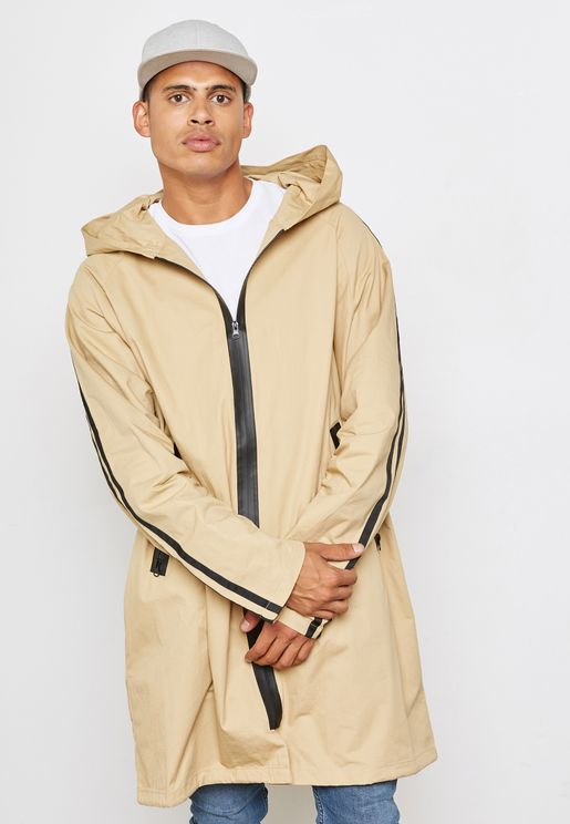 معطف طويل بسحاب