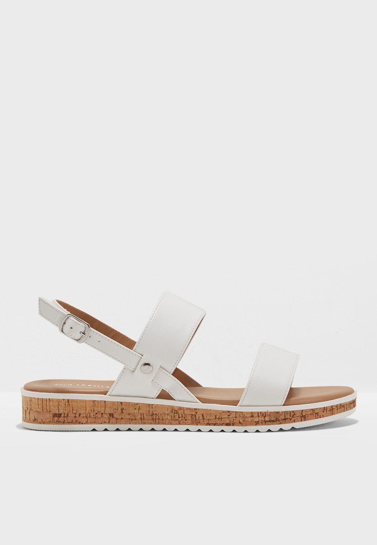 0f70da2a62e Shop Call It Spring white Low Flatform Two Band Sandal HAIELLA70 for ...